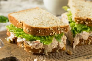 My favorite canned tuna recipe is tuna salad with chopped eggs and dill.